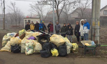 VIDEO&FOTO: Comunitatea Dumbrăvițeană face curățenie în comună