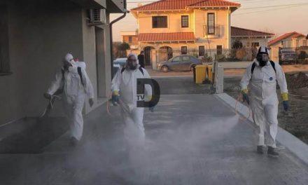 VIDEO: Acțiunile de dezinfecție din Dumbrăvița continuă!Vezi care sunt străzile vizate