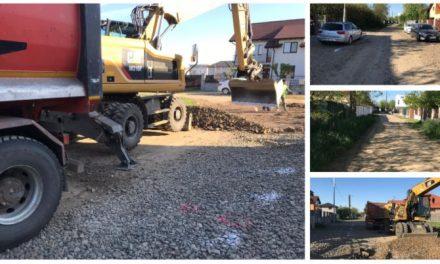 FOTO: S-a intrat cu utilajele! Austriecii de la Porr Construct au de asfaltat 11 străzi din Dumbrăvița