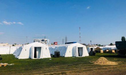 FOTO: Stadionul CFR Timișoara a fost transformat în spital militar pentru bolnavii cu coronavirus