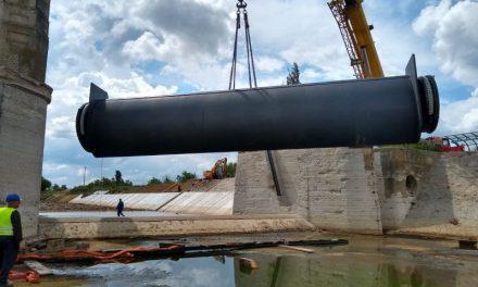 Barajului stăvilar de la Sânmihaiu Român a primit un echipament important