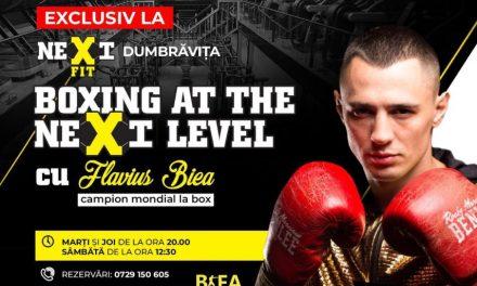Flavius Biea predă boxul în sala Nextfit din Dumbrăviţa