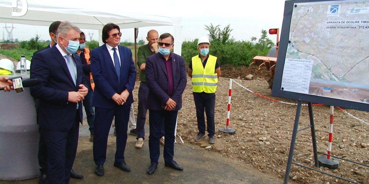 VIDEO: Ministrul Transporturilor a vizitat șanteriul centurii de ocolire Timișoara Sud