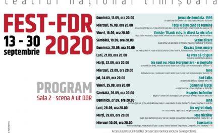 FEST-FDR 2020 în aer liber – Avem programul complet