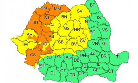 Administrația Națională de Meteorologie anunță cod galben pentru județul TIMIȘ