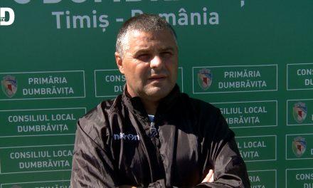 Liga3: CSC Dumbrăvița începe campionatul pe teren propriu – Declarații SORIN BĂLU