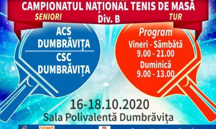 Campionatul Național Divizia B Seniori va fi transmis exclusiv online