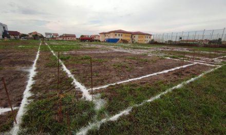 FOTO: S-au trasat liniile pentru fundație! Încep lucrările la creșa din Dumbrăvița