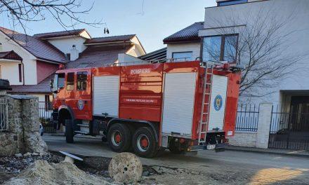 FOTO: Incendiu pe strada Olimp din Dumbrăvița