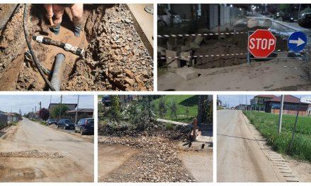 FOTO: Echipele de intervenție ale Aqua Dumbrăvița au lucrat peste 10 ore pentru remedierea unei avarii majore