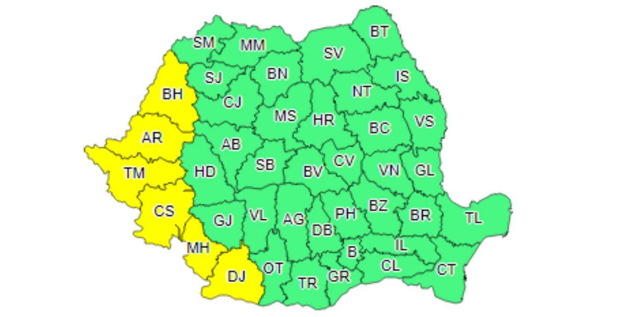 Administrația Națională de Meteorologie anunță cod galben pentru Banat