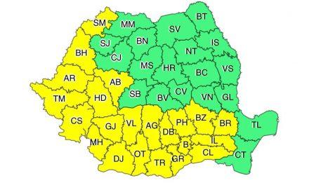 Administrația Națională de Meteorologie anunță cod galben în Banat