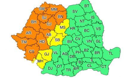 Administrația Națională de Meteorologie anunță cod portocaliu în Timiș