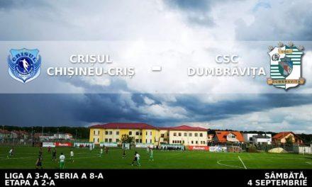 Deplasare grea pe malul Crișului pentru CSC Dumbrăvița – Declarații Abdrudan & Stan